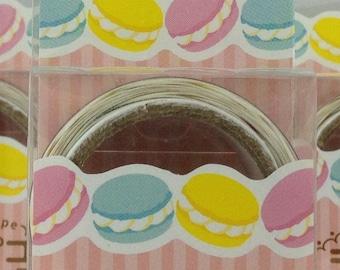 Macaron Japanese Die Cut Washi Tape Masking Tape Paper Tape (MDT02-12)