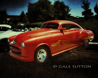 Vintage Oldsmobile - Hot Rod - Classic Car Photo - Old Car Art - 1949 Oldsmobile - Retro - Reds - Americana - Gifts for Men - Man Cave