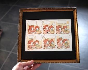 La tarte aux pommes : original framed watercolor