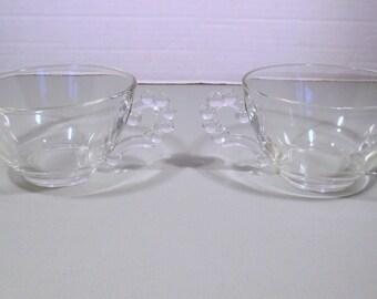 Boopie Anchor Hocking Berwick Glassware - Cream and Sugar Set