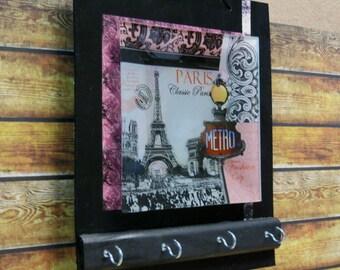 Key Holders, Wall Key Rack, Key Hook, Key Hanger in Paris Design, Housewarming Gift Wall Decor Ear Phone Storage Jewellery Organizer