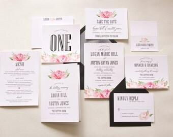 Garden Wedding Invitation, Blush Wedding Invitation, Elegant Wedding Invitation, Classic Wedding Invitation, Modern Wedding Invitation