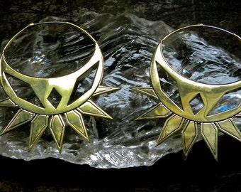 Spider Earrings: Gold Brass
