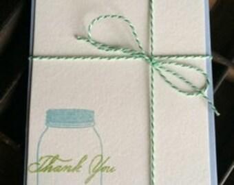 Mason Jar Notecards