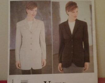 Vogue American Designer Anne Klein Vogue 1820 Ladies Jacket Sewing Pattern