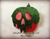 Poison Apple Skull Apple Candy Apple Haunted Hair Candy Clip