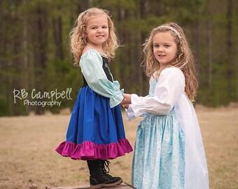 Elsa Dress - Elsa Costume - Queen Elsa Costume - Queen Elsa Dress - Elsa Dress - Cotton Elsa