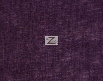 """Solid Corduroy Fabric - PURPLE - 60"""" Width Sold By The Yard"""