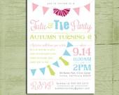 Printable Tutu & Tie Birthday Party Invitation