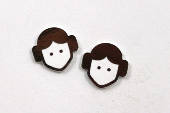 Laser Cut Supplies- Set of 8. Laser Cut Acrylic Princess Leia,Made from Two Toned Plastic.Perfect for jewelry making and crafts