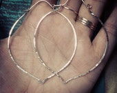 Hoops, Large, Gold, Silver, Hammered, Hoops, Lotus, Minimalist Jewelry, pounded, textured