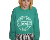 SALE 1991 Cropped Crewneck Sweater Benchmark Conference Balaee