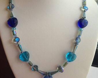 Blue mother of Pearl Necklace.
