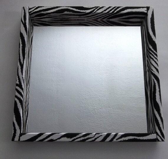 Zebra Print Bathroom Wall Decor : Items similar to zebra stripe print vanity mirror girls