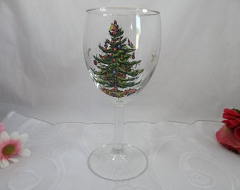 Spode Christmas Tree Wine Glass - 7 Available