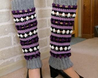 Purple/Orchid  Crochet Leg Warmers