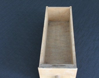 Vintage Light Wooden Sewing Machine Drawer with Knob #1
