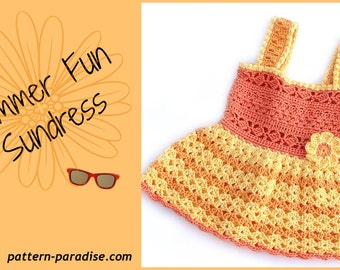 Crochet Pattern Sundress or Jumper Sizes from Newborn to 5T PDF 14-140
