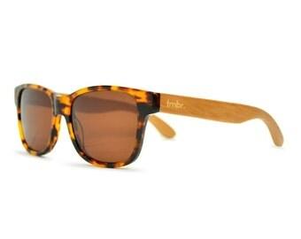 Tortoise Sunglasses, Tortoise Wood Retro Sunglasses, Wayfarer-Style Sunglasses - WSD1