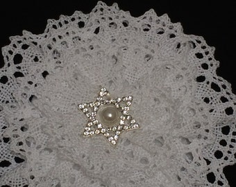 White Crochet Kippah, Wedding Kippah, Lace Kippah, Jewish Star Kippah