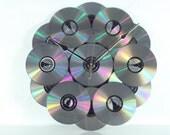 CD DVD Disc Wall Clock, Geekery, Wall Art, Clocks by DanO