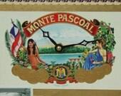 Monte Pascoal Cigar Box, Desk Clock, Cigars, Smoking, Tobacciana, Geekery, Clocks by DanO
