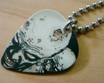 Zombies - The Walking Dead Guitar Pick Necklace 30 Inch Stainless Steel Ball Chain