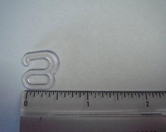 "1 Dozen 3/8"" Plastic Bra Hooks for swimsuits or dancewear (A-57)"