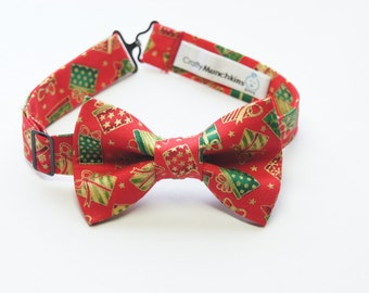 Bow Tie - Red with Christmas Presents Bowtie