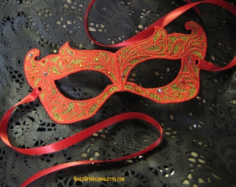 Girl On Fire Katniss Inspired Lace Mask with Swarovski Crystals
