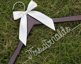 Single line Personalized Custom Bridal Hanger, Brides Hanger, Bride, Name Hanger, Wedding Hanger, Personalized Bridal Gift