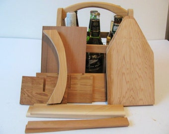 Two DIY Wood 6 Pack Bottle Carrier kits