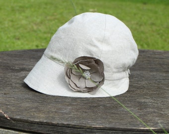 Girls sun hat Linen hat Toddler girl sun hat Summer hat