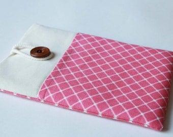 Ipad Air 2 Sleeve Ipad Air 2 Case foam Padded iPad Air Sleeve Handmade iPad Air Cover with Pocket- Pink square