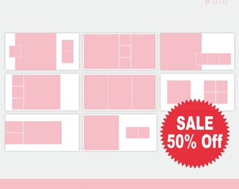On Sale 50% Off. 10x20 Photoshop PSD Files. Digital Template Pack. B_010
