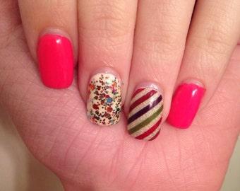 Coloured Stripes Nail Wraps