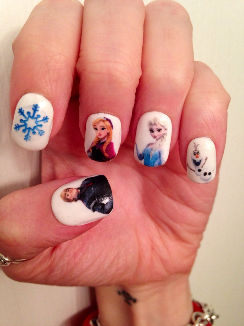 Frozen Nail Decals Paipurnails Etsy