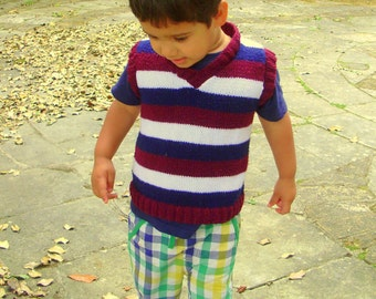 Hand Knitted Toddler Tank top Hand knitted toddler sweater vest, Hand knitted tank top hand knitted sweater vest. Knits for boys
