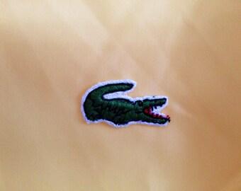 La Coste The Alligator vintage yellow rain coat