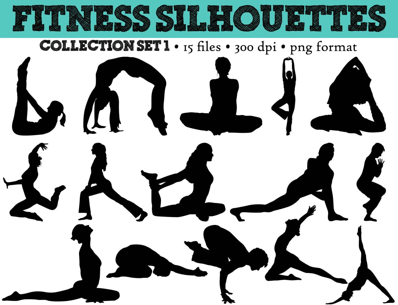 Yoga clipart | Etsy