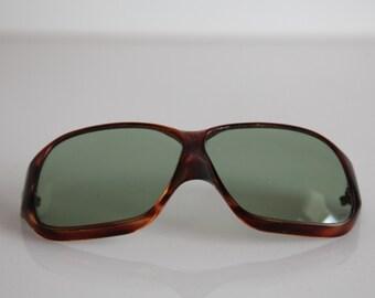 Vintage 70s Oversized  Brown  Frame, Crystal Lenses. Rare Piece. Please Read  Description