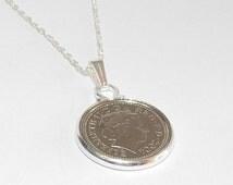 19th Birthday 5p coin Pendant - 1996 Pendant