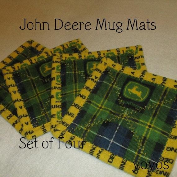 Mug Mats John Deere Theme Set Of Four Country Chic By
