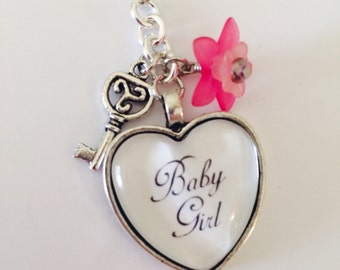 Baby Girl BDSM Theme Zipper Pull/Keychain