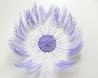 LILAC BLUE / Pin Wheel Hackle Feathers