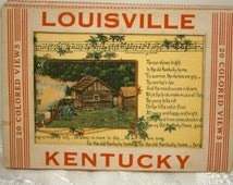 Miniature Linen Postcard Set of Louisville, KY / Set of 20 Postcards /1920's / Collectible Postcard Set / Picturesque Scenes