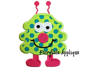 Digital Machine Embroidery Design - Wally the Monster Applique