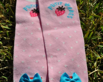 Pink Bear leg Warmers