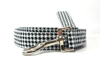 Black and White Houndstooth Dog Leash, Dog Leashes, Dog Lead, Pet Restraint, Pet Supplies