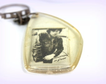 key holder with photo- photo picture holder- for keys /for fun- small Christmas gift- souvenir of life- collectable key